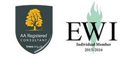 Arboricultural Association and EWI logos